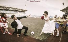 """Bộ ảnh cưới """"độc nhất vô nhị"""" của fan Arsenal tại Việt Nam"""