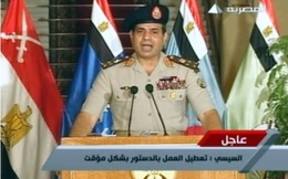 Quân đội Ai Cập phế tổng thống, đình chỉ Hiến pháp