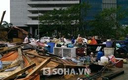 Bão Haiyan: Hàng quán sát tòa nhà Keangnam đổ nát sau 1 đêm