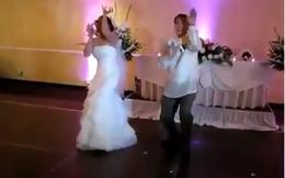 Xuất hiện cô dâu chú rể nhảy tưng bừng trong lễ cưới