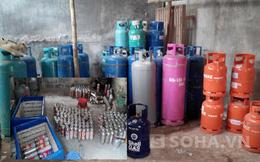 """""""Đột nhập"""" xưởng chiết lậu gas tại TP Hải Dương"""