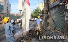 Tp.HCM: Tụ điện bốc cháy, nhiều người hốt hoảng