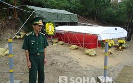 Hình ảnh những người lính áo xanh bảo vệ nơi an táng Đại tướng