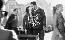 Dịch vụ uống cafe miễn phí với chỉ... một nụ hôn