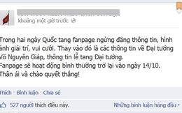 Các fanpage giải trí đồng loạt dừng đăng ảnh trong ngày Quốc tang