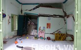 7 căn nhà bỗng sụt lún, rung lắc, người dân hoảng loạn tháo chạy