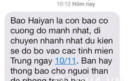 Các nhà mạng liên tục cập nhật cảnh báo siêu bão Haiyan