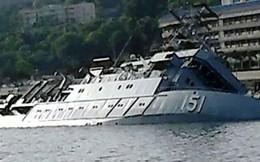 Tàu hải quân Malaysia bất ngờ chìm ở căn cứ