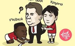 Ảnh chế: Cầu thủ Man United thi nhau cung phụng Van Gaal