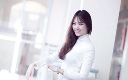Hot girl xứ Hàn đẹp long lanh trong tà áo dài Việt Nam
