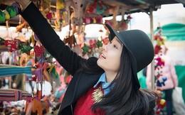 """Hot girl """"Bánh tráng trộn"""" xinh xắn rạng rỡ trên phố Hàn Quốc"""