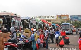 Người dân chen chân rời TP.HCM về quê ăn Tết