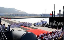 Toàn cảnh lễ tiếp nhận tàu ngầm Kilo Hà Nội tại Cam Ranh