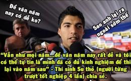 Ảnh chế: Khi Ronaldo, Suarez đi thi tốt nghiệp