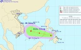 Tối nay, áp thấp nhiệt đới đi vào biển Đông