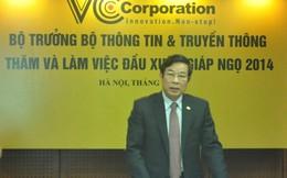 """Bộ trưởng Nguyễn Bắc Son: """"Mong VCCorp vươn ra quốc tế"""""""