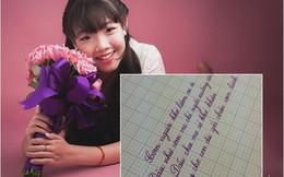 """Nét chữ đẹp như in của cô gái """"duyên dáng nhất Hà Thành"""" 2012"""
