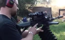 Xem súng trường AR-15 trổ tài bắn hàng trăm viên một phút