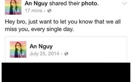 An Nguy và bạn bè thân thiết viết status nhớ một năm ngày mất của Toàn Shinoda