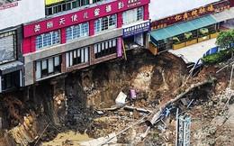 """""""Hố địa ngục"""" nuốt chửng một con phố ở Trung Quốc"""