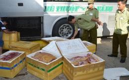 Bắt 800 kg thịt thối sắp vào các quán nhậu