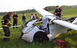 Xe hơi bay gặp tai nạn nghiêm trọng khi thử nghiệm