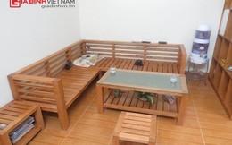 Toàn bộ nội thất làm từ gỗ tần bì trong căn hộ gia đình Hà Nội