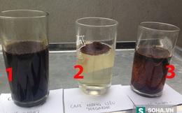 Chỉ cần 3 ly nước lọc, lật mặt loại cà phê độc hại