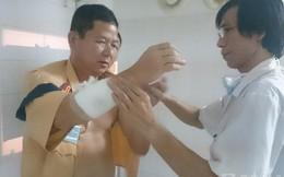 Thanh niên say rượu ném đá khiến một CSGT Hà Nội bị gãy tay
