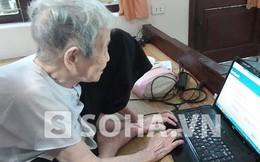 """Hy hữu: Cụ bà U100 xài Facebook khiến con dâu 70 tuổi """"bái phục"""""""