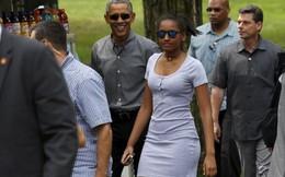 """50 đặc vụ phong tỏa công viên để Obama và con gái """"vi hành"""""""