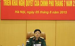 Đại tướng Phùng Quang Thanh chủ trì hội nghị của Bộ Quốc phòng