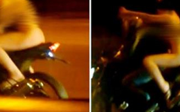 Truy tìm thiếu nữ khỏa thân ngồi sau xe máy chạy trên đường