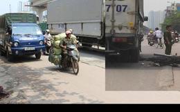 Hà Nội: Người đàn ông đi xe máy ngã ra đường bị xe tải cán