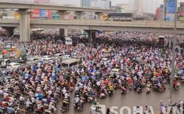 Cảnh tượng kinh hoàng ở Hà Nội sáng nay