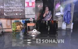 Cảnh tượng xoong chảo bồng bềnh trên đường phố Sài Gòn sau mưa