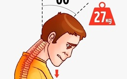 """Sững sờ vật nặng 27 kg """"đè đầu cưỡi cổ"""" bất kỳ ai cúi đầu xem điện thoại"""