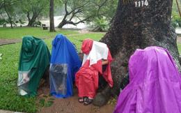 """Bức ảnh giữa thủ đô trong ngày mưa bão khiến bạn phải """"rùng mình"""""""