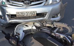 """Ô tô """"điên"""" gây tai nạn liên hoàn, kéo lê xe máy hàng chục mét"""
