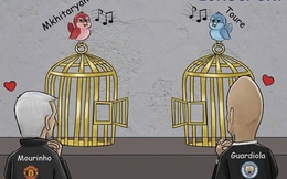 Biếm họa Toure và Mkhitaryan như 2 chú chim sổ lồng