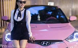 Bà mẹ 9x Hà Thành nổi bật với chiếc xe toàn màu hồng