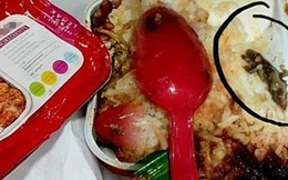 """Kinh hoàng phát hiện """"vật thể lạ"""" trong đồ ăn trên chuyến bay của AirAsia"""