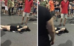 Cô gái trượt té ở phố đi bộ và bình luận ác ý của dân mạng