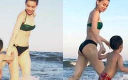 Lưng trần quyến rũ của Hồ Ngọc Hà