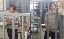 """Cô gái làm việc trong công xưởng khiến dân mạng """"phát sốt"""""""