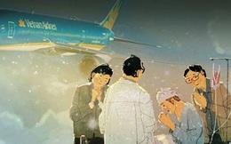 """Vietnam Airlines gây """"bão"""" vì hành động đẹp ở Hàn Quốc"""