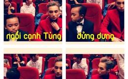 Hồ Văn Cường ngó lơ Sơn Tùng M-TP khi ngồi cạnh nhau ở VTV Awards
