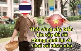 Ảnh chế: Thái Lan an ủi U19 Việt Nam sau trận thua 0-3 trước Nhật Bản