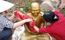 'Pho tượng lạ màu vàng không có giá trị lịch sử văn hóa'