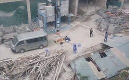 Hà Nội: Một công nhân bị rơi xuống mái tòa nhà bên cạnh
